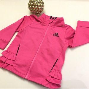 Adidas ruffle jacket 💗